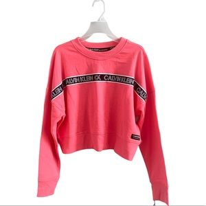 NWT Calvin Klein Performance Logo Crop Sweater